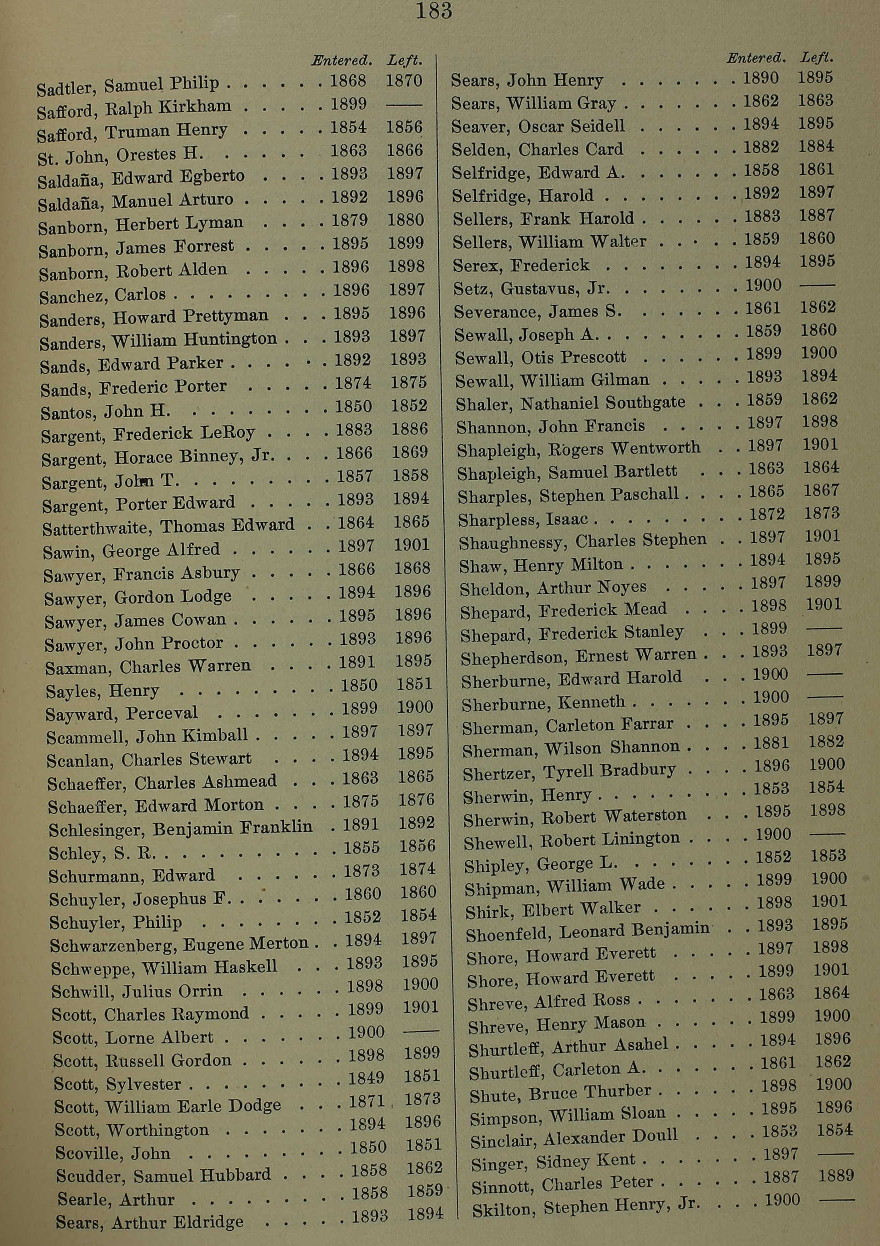 United State College Student Lists, 1763-1924 for Eugene Merton Schwarzenberg