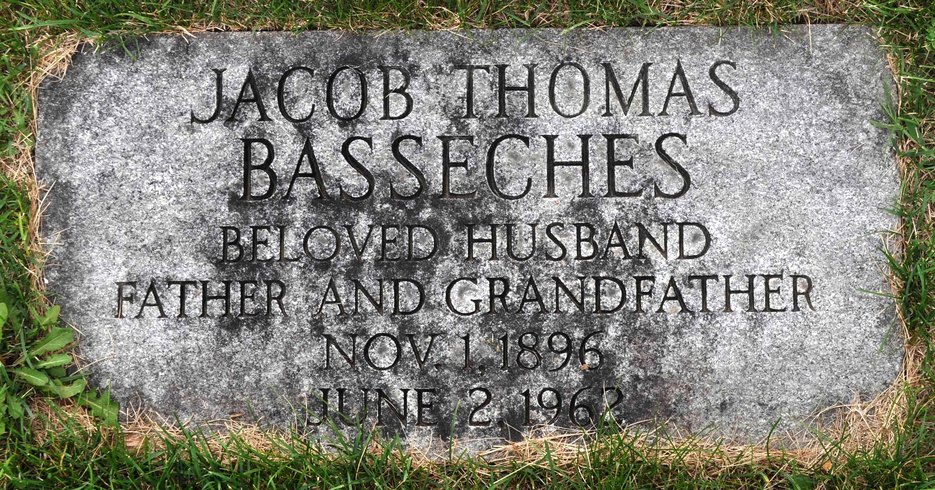 Jacob Thomas Basseches (1896 - 1962) Find A Grave Memorial
