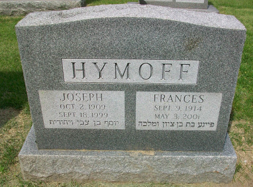Frances Hymoff (1914 - 2001) Find A Grave Memorial