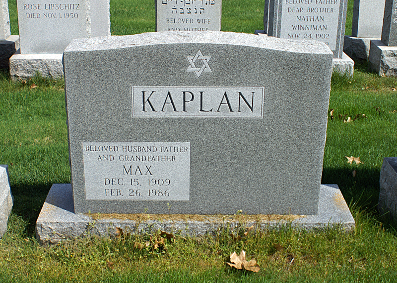 Max Kaplan (1909 - 1986) Find A Grave Memorial