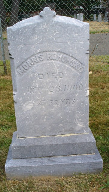 Morris Rohowsky ( - 1900) Find A Grave Memorial