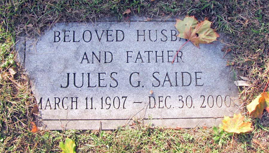 Jules C. Saide (1907 - 2000) Find A Grave Memorial