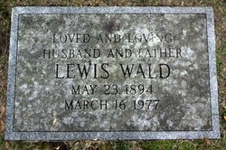Lewis Wald (1894 - 1977) Find A Grave Memorial