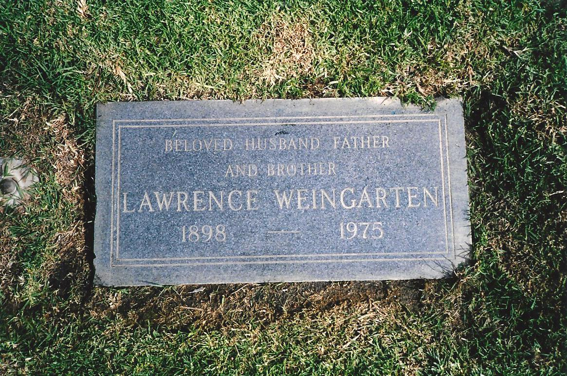 Lawrence A. Weingarten (1897 - 1975) Find A Grave Memorial